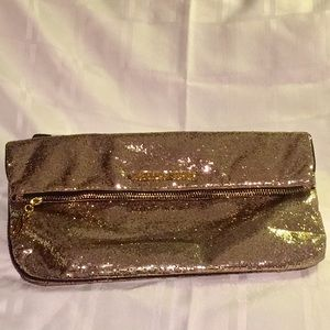 Victoria's Secret Gold Fold-over Clutch